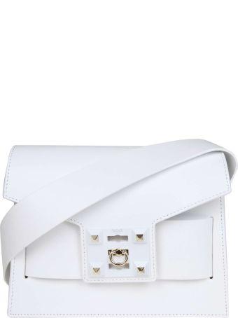Salar Bag In Mila Shoulder In White Leather