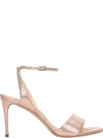 Casadei Bronze Red Calf Leather Sandals