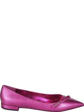 Prada Bow Detail Ballerinas