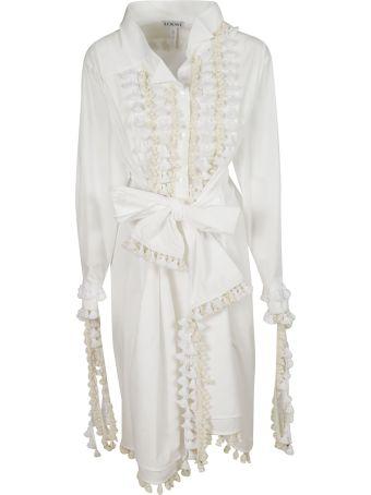 Loewe Ruffled Detail Bow-tied Dress