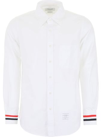 Thom Browne Shirt With Tricolor Band