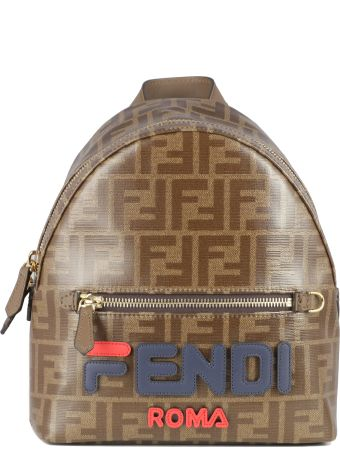 Fendi *fila  Backpacks With White And Yellow Logo