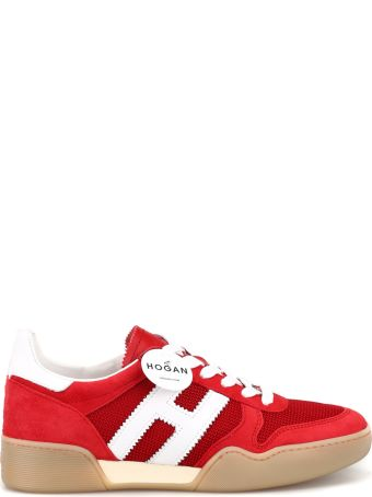 Hogan Suede And Tech Fabric Retro Volley Sneakers Hxw3570ac40krf0qew
