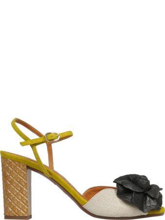 Chie Mihara Floral Applique Sandals