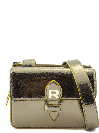 Rochas Gold-tone Mirror Leather Bag