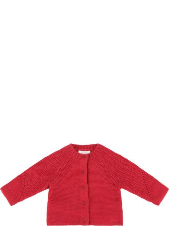 Chloé Red Cardigan With Logo For Baby Girl