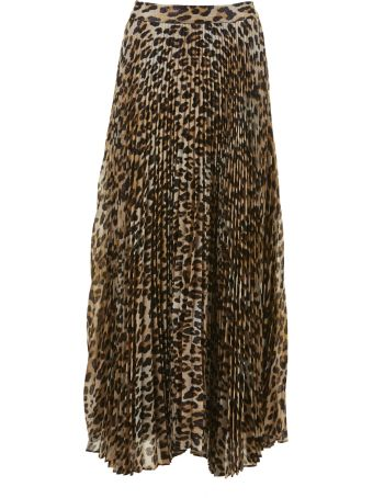 Alice + Olivia Katz Maxi Pleated Skirt