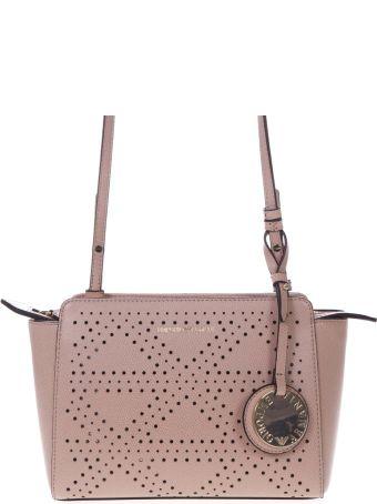 Emporio Armani Powder Faux Leather Holed Bag