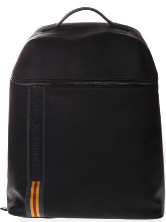 Emporio Armani Black Logo Nylon Backpack