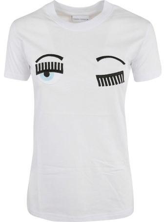 Chiara Ferragni Flirting Embroidered Logo T-shirt