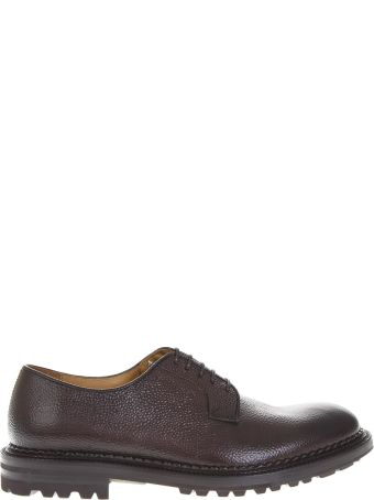 Green George Brown Grained Leather Lace-up Shoes