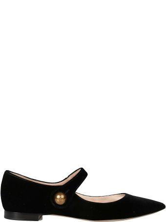 Rochas Pointed Toe Ballerinas