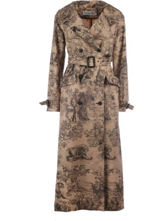 Christian Dior Dior Rodeo Print Trench