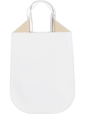 Ree Projects White Leather Helene Shoulder Bag