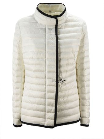 Fay White Jacket In Blue High Tech Fabric