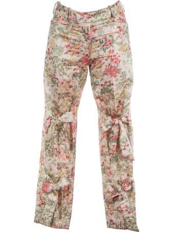 Simone Rocha Floral Brocade Trousers