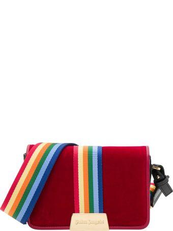 Palm Angels Velvet Rainbow Bag