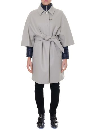 Fay Light Grey Cashmere Double Layer Coat
