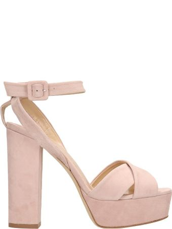 The Seller Pink Suede Sandals