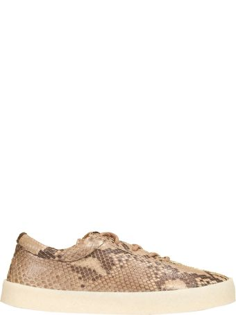 Yeezy Snake Effect Lace-up Sneakers