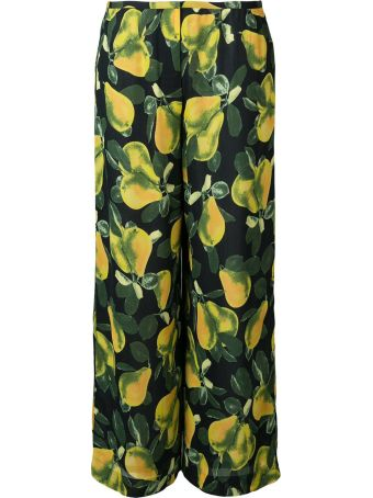 Marc Jacobs Pears-print Crepe Trousers