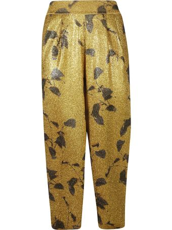 Mes Demoiselles Glittery Coated Trousers