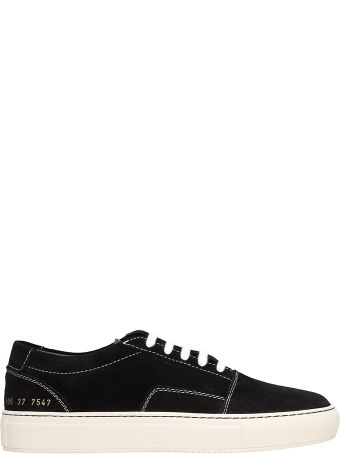 Common Projects Skate Low Black Suede Sneakers