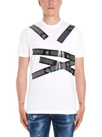 Dsquared2 'tape Logo' T-shirt