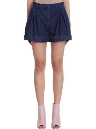 L'Autre Chose Blue Denim Shorts