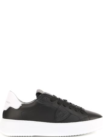Philippe Model Black Leather Temple Veau Sneakers