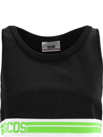 GCDS Black Fabric Top