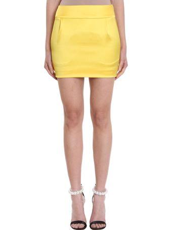 Alexandre Vauthier Lemon Cm And Wears 40n Satin Skirt