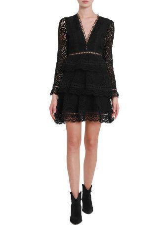 Zimmermann Brodeire Short Dress With Flounces