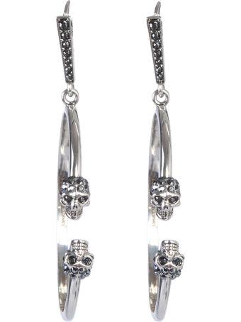 Alexander McQueen Skull Creole Earrings