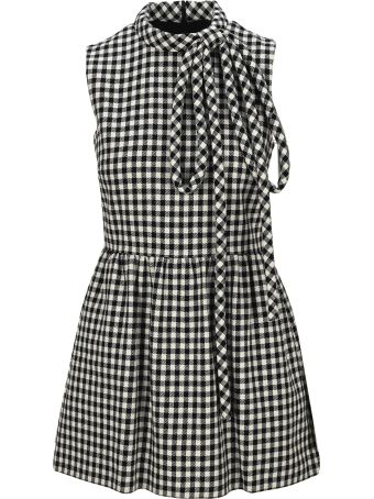 RED Valentino Checked Short Jumpsuit