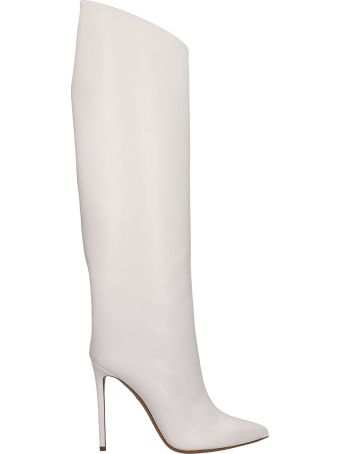 Alexandre Vauthier Alex White Nappa Leather Boots