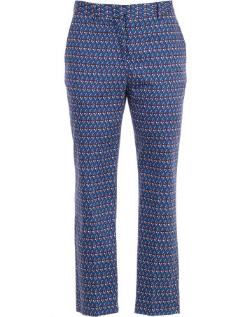 Paul Smith Geometric Print Cropped Trousers