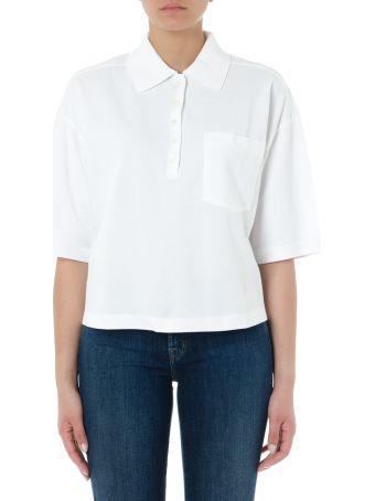 Thom Browne Oversized White Piqué Cotton Polo Shirt