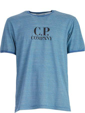 C.P. Company Striped Logo T-shirt