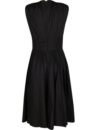 MICHAEL Michael Kors Black Cotton Midi Dress