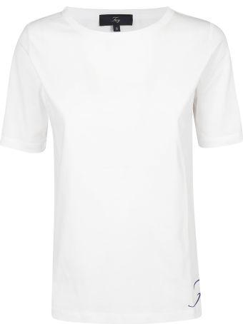 Fay Side Logo Print T-shirt