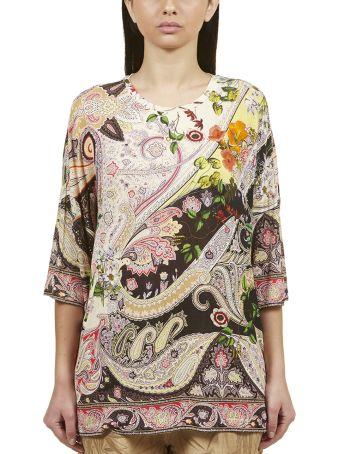 Etro Paisley Flower Print Blouse