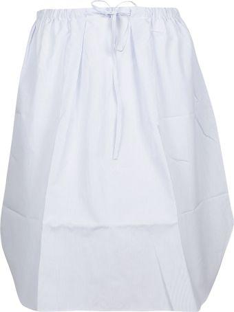 Jil Sander Navy Drawstring Skirt