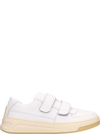Acne Studios White Leather Steffey Sneakers