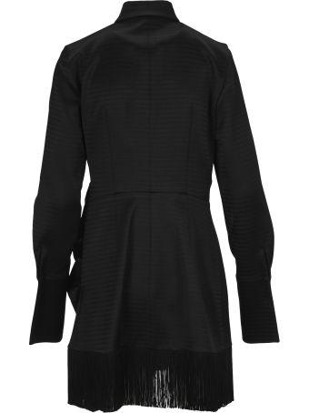 The Attico Attico Fringed Shirt Dress