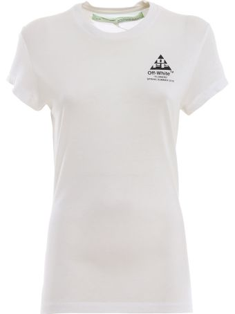 Off-White Cotton Carryover Fitted T-shirt