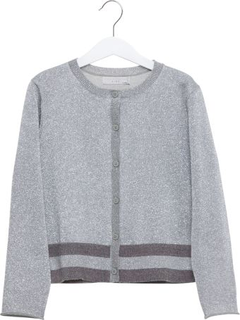 Stella McCartney Silver Cardigan In Lurex Knit