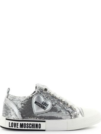 Love Moschino Silver Sequins Sneaker