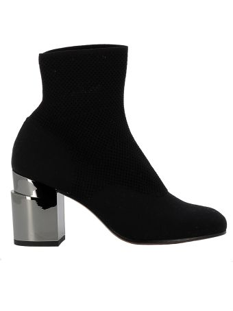 Robert Clergerie Black Fabric Ankle Boots