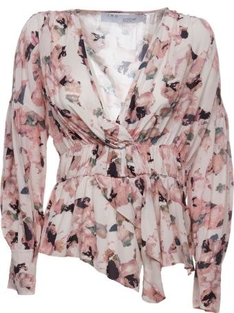 IRO Flared Floral Blouse